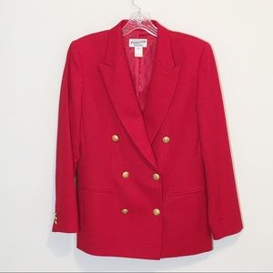 Pendleton Vintage Red Wool Blazer Gold Buttons NEW